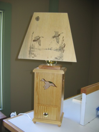 Duck Lamp with Drawer