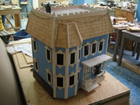 Doll house on 4 x 8 sheet of plywood