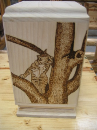 Cat in a tree Urn