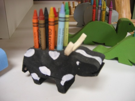 Cow Crayon Holder