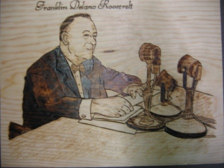 Woodburned Portraits Presidents