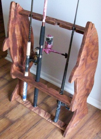 Large grouper fishing pole stand