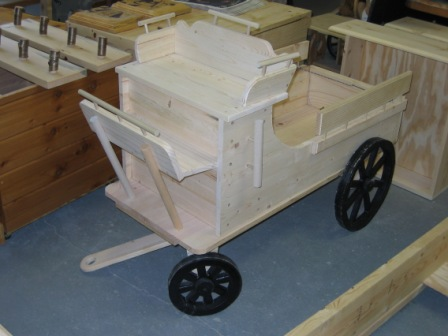 Rustic Western style Wagon Toy Chest